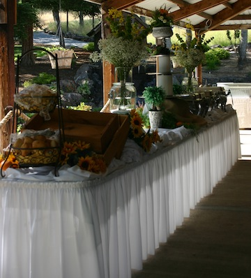 Wedding Buffet Table Setup Wedding buffet table setup