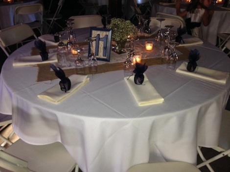 The table setting was sooo classy.  Love the baby's breath.