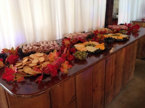 The snacks await the party to start.