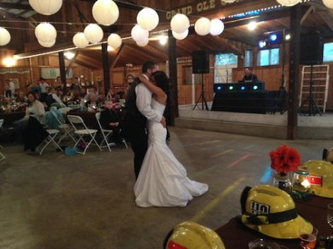 Seanna and Kyle enjoy their first dance as husband and wife.