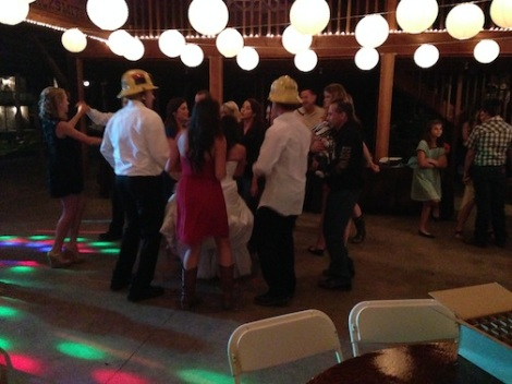 Now the party is in full swing.  This crowd sure can cut the rug!
