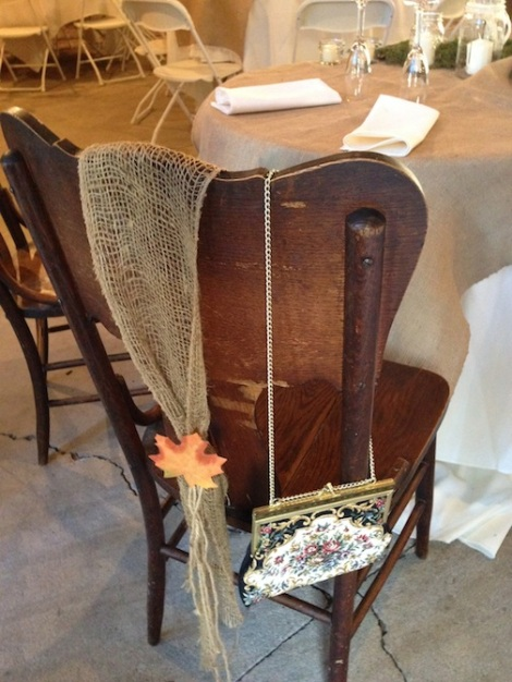 LOVE the vintage purse to signify Kirstien's chair.  Details!
