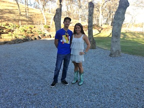 Alyssa and Brandon on Friday at the rehearsal.  Are they just the most adorable couple or what?  Gotta love the boots.  She wore them with her wedding gown as well.