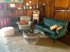 The lounge area was set up in the alcove of the barn.  It had such a cozy vibe.