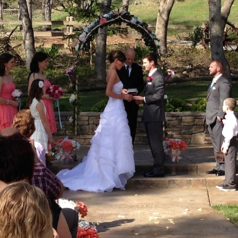 Vows and ring exchange.
