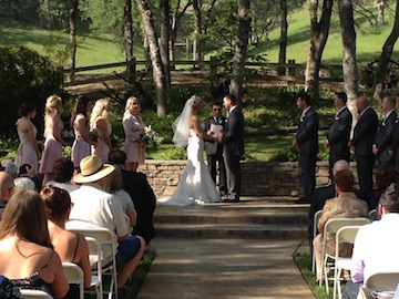The vows and ring exchange.