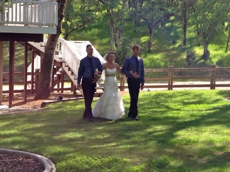 The radiant Katharine is escorted to the aisle.  All eyes were on the BEAUTIFUL bride!