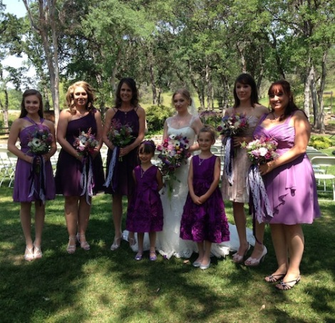 Suzanne with her girls!  LOVE the purple dresses on her girls.  A pop of color on a bright spring day is so happy!