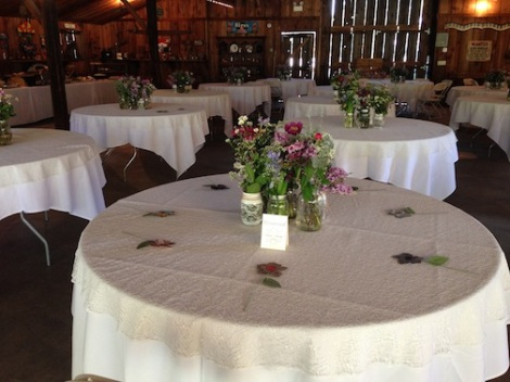 The spring vibe in the barn was undeniable.  LOVE the centerpieces with the multiple vases of spring flowers.  It smelled amazing!