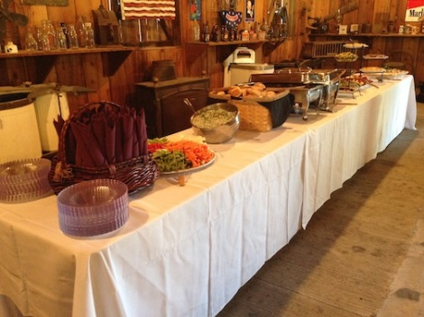 Since Suzanne and Cody are both chefs, I had to share the 2nd most important part of the day!  They both work at Simpson, and they catered this lovely event.  They did an amazing job!  I hope to see Suzanne and Cody again at the ranch as chefs!  That would be